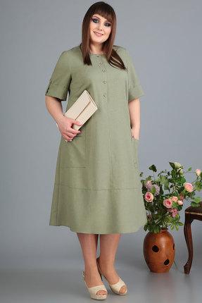 Платье Algranda 3482 олива фото
