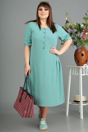 Платье Algranda 3488 бирюза фото