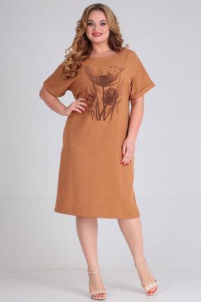 Платье Andrea Style 00269 терракотовый фото