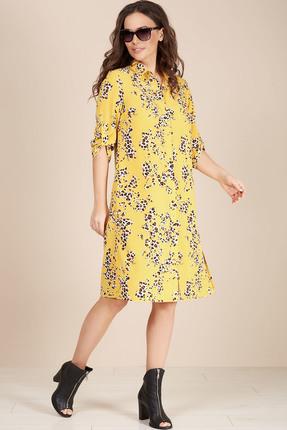 Платье Teffi style 1493 желтые тона