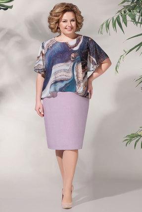 Платье БагираАнТа 620 сиреневые тона фото
