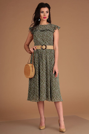 Платье Мода-Юрс 2556 зеленый