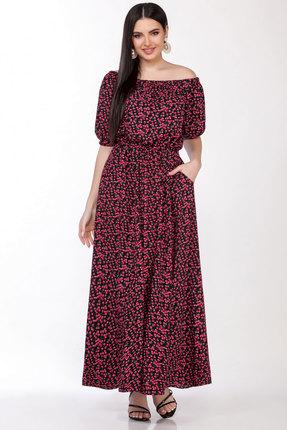 Платье LaKona 1307 черный с вишнями