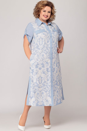 Платье KetisBel 1500 голубой фото