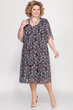 Платье LaKona 1221 цветочный принт фото
