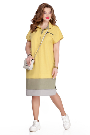Платье TEZA 906 желтый фото