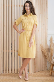 Платье ЮРС 20-359-1 желтый