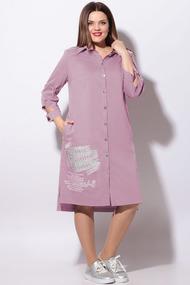 Платье LeNata 11119 розовый