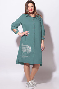 Платье LeNata 11119 серо-голубой