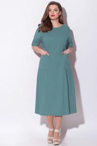 Платье LeNata 11121 серо-голубой