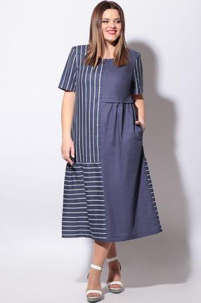 Платье LeNata 11127 темно-синий
