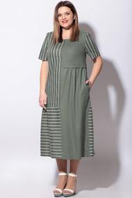 Платье LeNata 11127 зеленый