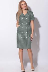 Платье LeNata 11015 зеленый