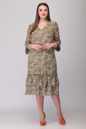 Платье Verita Moda 2071 зеленые тона