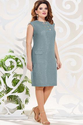 Платье Mira Fashion 4807-2 бирюзовые тона фото