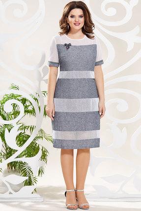 Платье Mira Fashion 4798 серо-синие тона