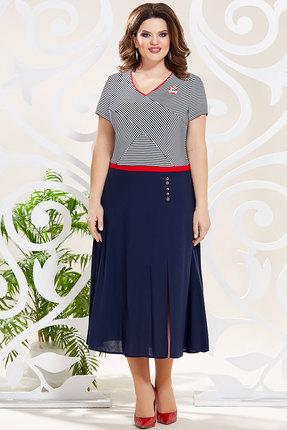 Платье Mira Fashion 4799 тёмно-синий