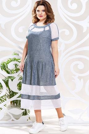 Платье Mira Fashion 4801 синий