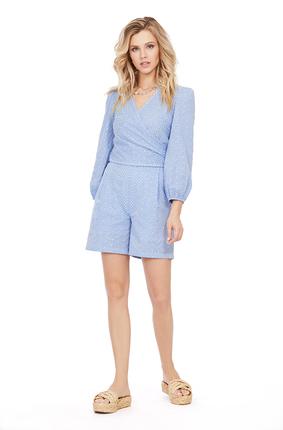Комплект с шортами PIRS 1018 голубой