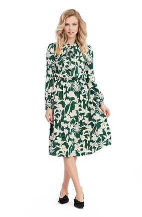 Платье PIRS 1014 зеленые тона