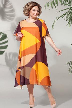 Платье БагираАнТа 619 терракотовые тона фото