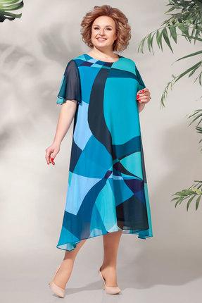 Платье БагираАнТа 619 синие тона фото