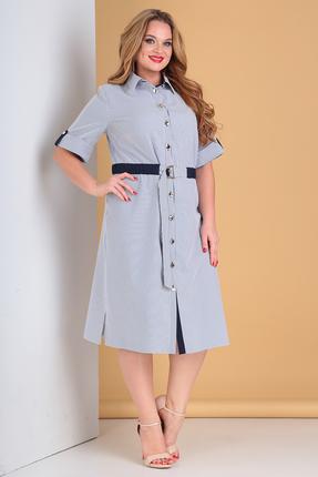 Платье Moda-Versal 2188 сине-белый фото