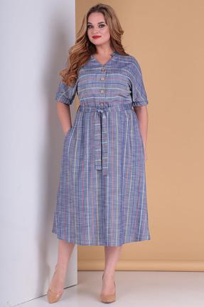 Платье Moda-Versal 2189 синий фото