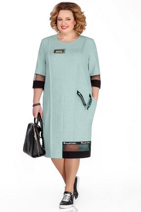 Платье Pretty 1032 бирюзовые тона