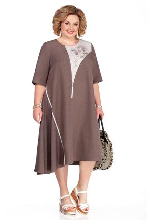 Платье Pretty 1054 коричневый