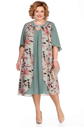 Платье Pretty 1060 бирюзовые тона фото