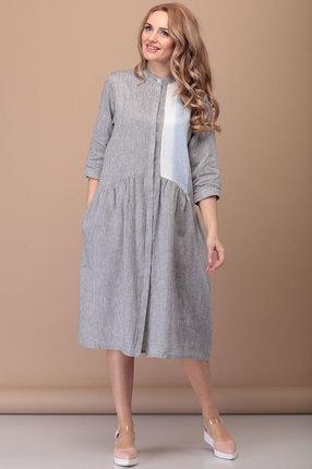 Платье Flovia 4035 серый