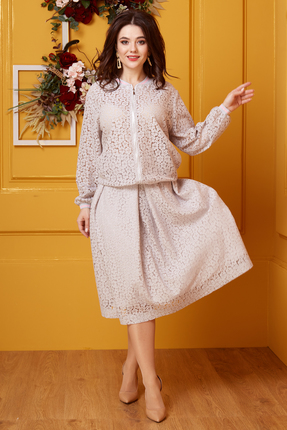 Комплект юбочный Anastasia 413.3 бежевые тона фото