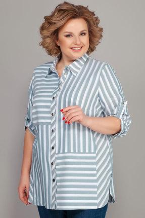 Рубашка Emilia 416/3 белый с бирюзовым