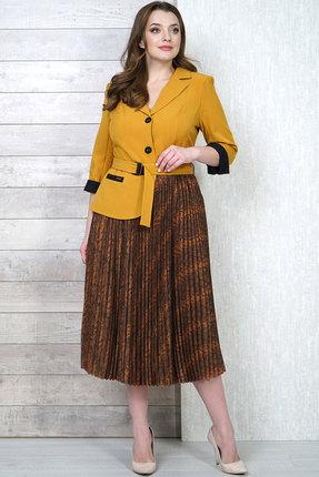 Платье Белтрикотаж 4282 желтый с коричневым