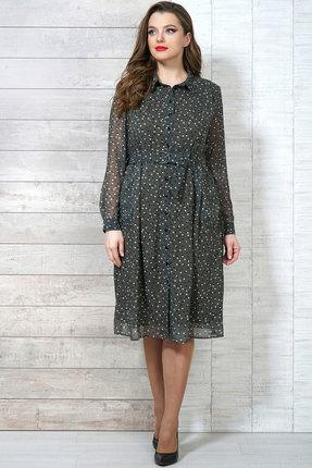 Платье Белтрикотаж 6504 зеленые тона