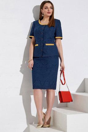 Комплект юбочный Lissana 3981 темно-синий фото