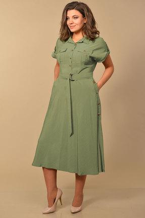 Платье Lady Style Classic 2064/1 хаки фото