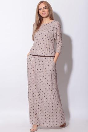 Платье LeNata 11130 бежевый