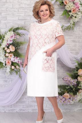 Платье Ninele 5810 молоко+пудра