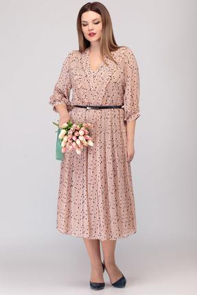 Платье Denissa Fashion 1308 пудра