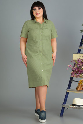 Платье Algranda 3493-4 зеленый