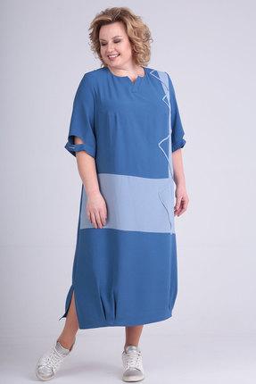 Платье Viola Style 919 синий