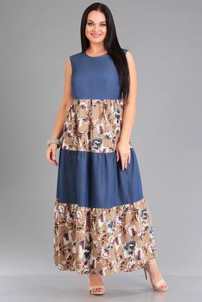 Платье FoxyFox 5 сине-бежевый