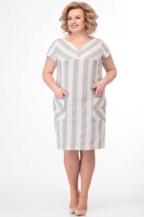 Платье Anelli 400 серые тона