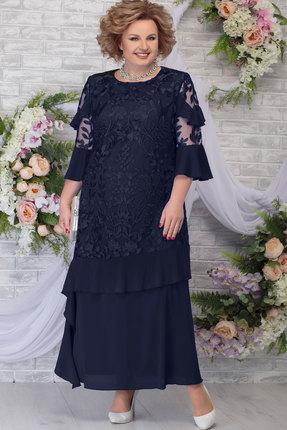 Платье Ninele 5781 тёмно-синий