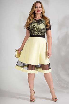 Платье Лилиана 829 лимонный