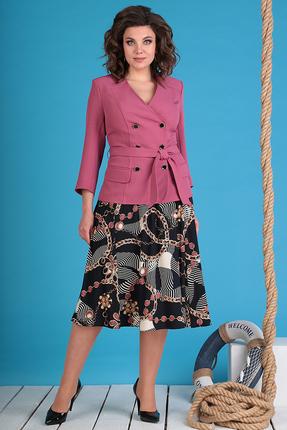 Комплект юбочный Мода-Юрс 2470-1 темно-розовые тона фото