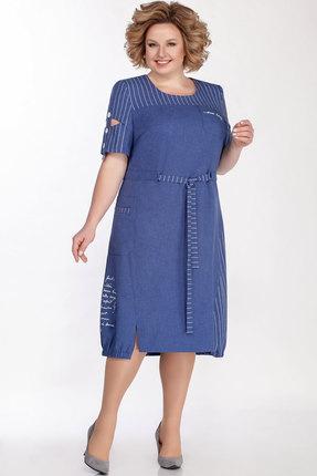 Платье Теллура-Л 1497 василёк фото
