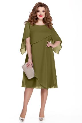 Платье TEZA 722 зеленый фото